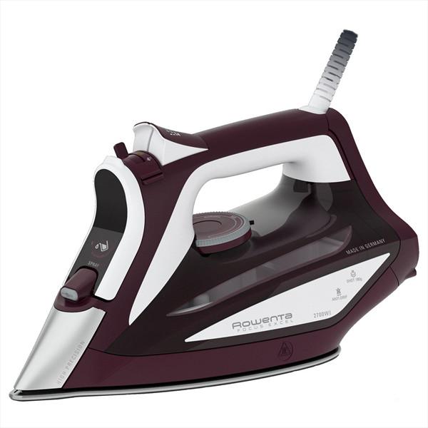 Rowenta Focus Excel DW5220 Ferro da stiro a vapore 2700 Watt colore Bordeaux, Bianco