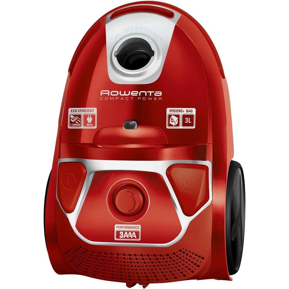 Rowenta RO3953EA Compact Power Parquet aspirapolvere con sacco 750 watt classe A colore rosso