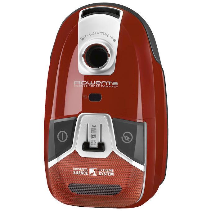 Rowenta RO6383EA Silence Force Compact 4A Animal Care aspirapolvere a traino con sacco 750 Watt classe A colore rosso