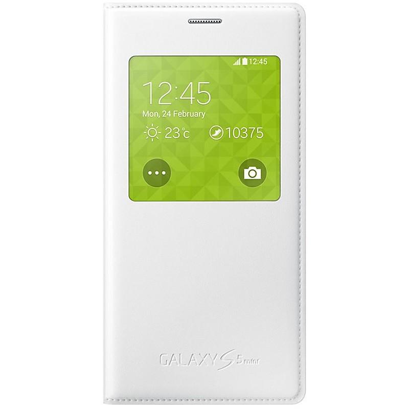 S View Cover bianca Samsung Galaxy S5 Mini EF-CG800BWEGWW