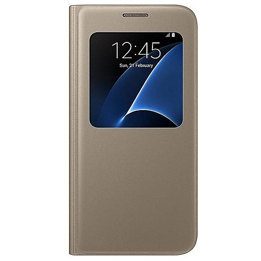 s view cover gold s7 flat