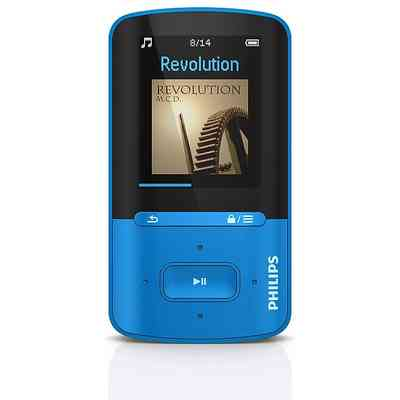 PHILIPS sa4-vbe04bn philips lettore mp3 4 gb blu