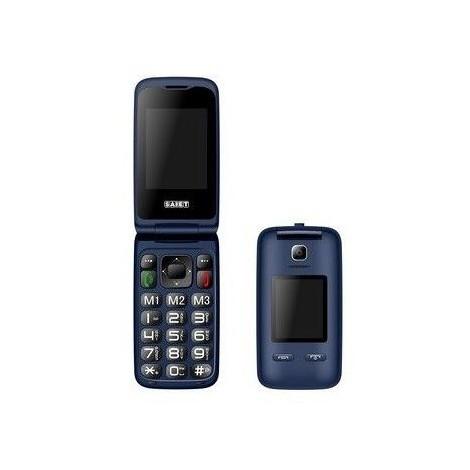 Saiet Vista blu cellulare doppio display