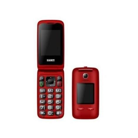 Saiet Vista rosso cellulare doppio display