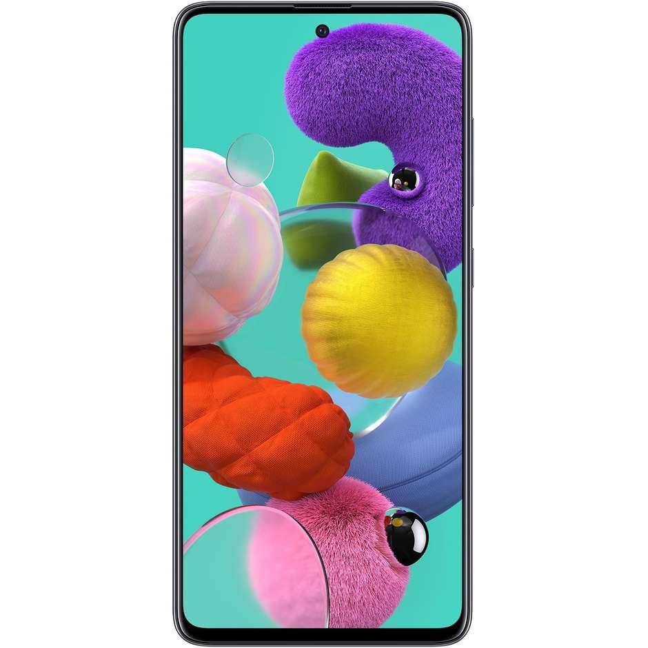 """Samsung Galaxy A51 Smartphone 6.5"""" Ram 4 GB Memoria 128 GB Android colore Nero"""