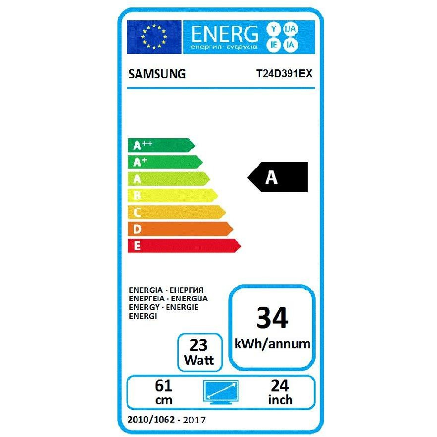 "Samsung LT24D391EI/EN Monitor Tv LED 24"" Full HD hotel mode classe A bianco"