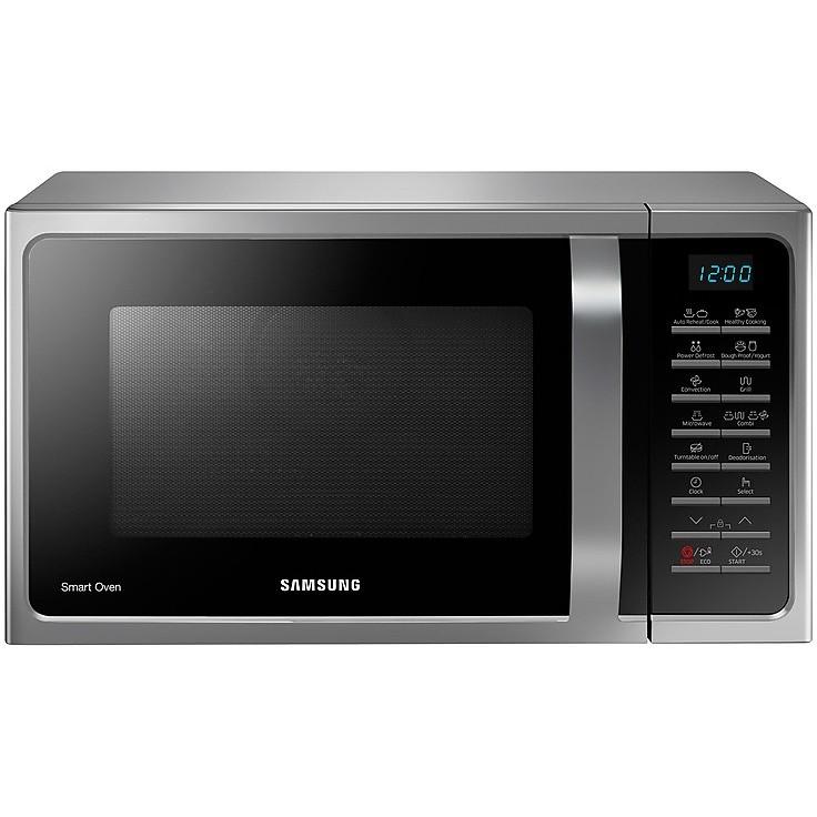 Samsung mc28h5015cs forno a microonde combinato 28 litri 900 watt colore argento cottura forni - Forno combinato microonde ...