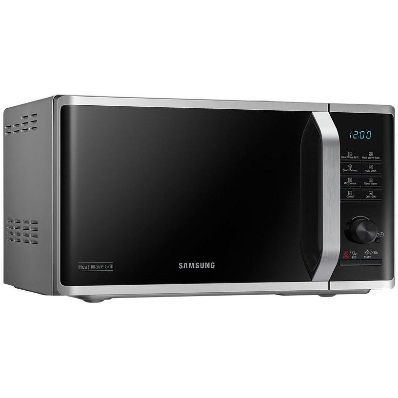Samsung mg23k3575cs forno a microonde 23 litri 1250 watt con grill da 1100 watt colore argento - Forno e microonde insieme ...