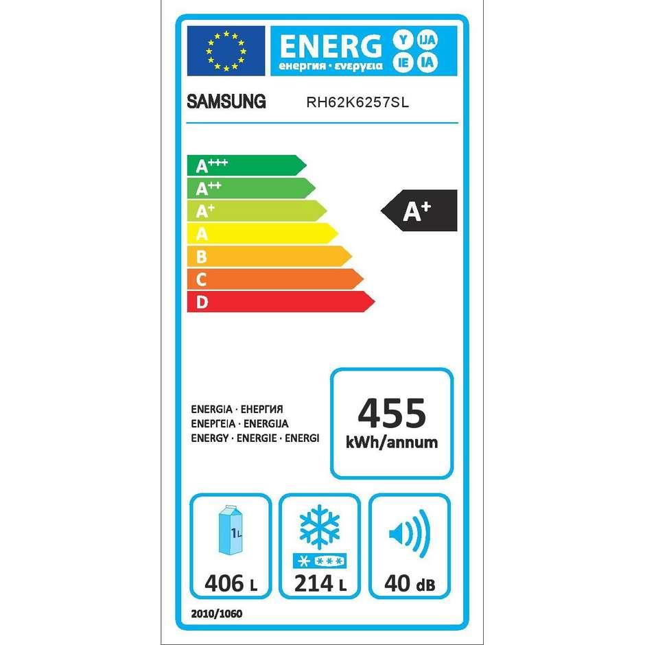 Samsung RH62K6257SL Frigorifero Side by Side 620 Lt classe energetica A+ colore Grigio