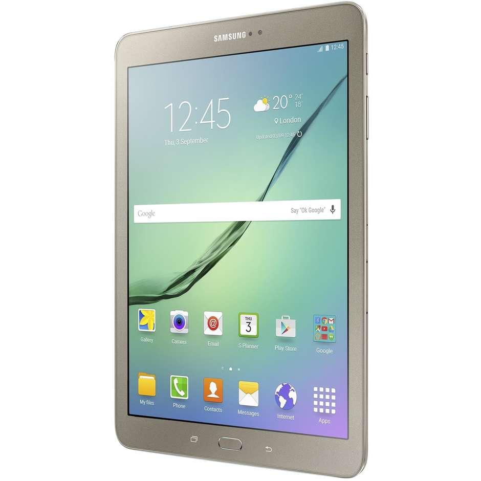 """Samsung SM-T819NZDEITV Galaxy Tab S2 Tablet 9,7"""" memoria 32 GB Wifi 4G Lte colore Oro"""