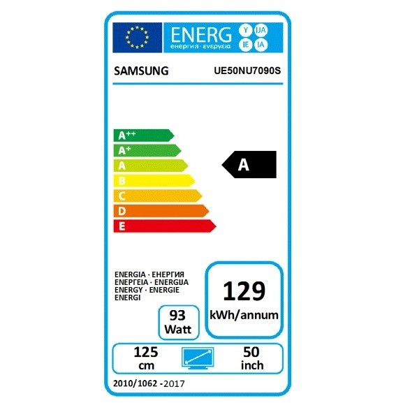 "Samsung UE50NU7090 TV Led 50"" 4K Ultra HD Smart TV Classe A Wifi colore Nero"