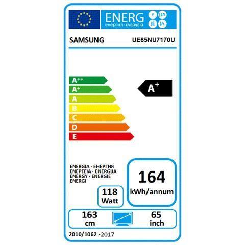 "Samsung UE65NU7170UXZT Tv LED 65"" 4K Ultra HD HDR 10+ Smart Tv Wi-fi classe A+"