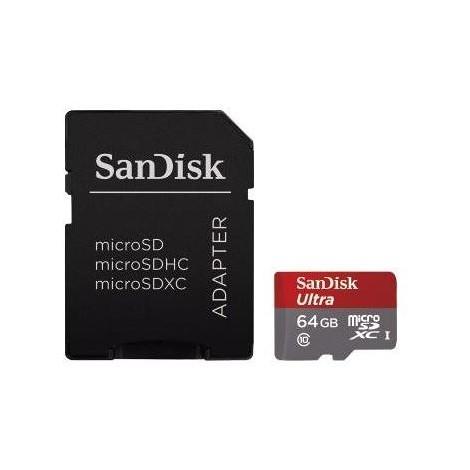 Sandisk MicroSDXC SQUNC64GB Ultra 64GB Classe 10 Memoria flash