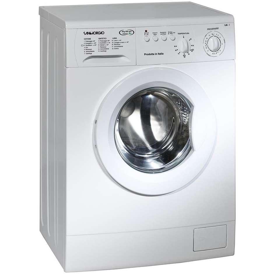 SanGiorgio S4208B lavatrice carica frontale 5 Kg 800 giri classe A+ colore bianco