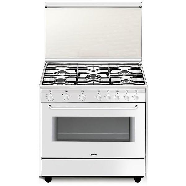 sb-91gv smeg cucina a gas 90x60 5 fuochi bianca - Cucine Cucina 5 ...