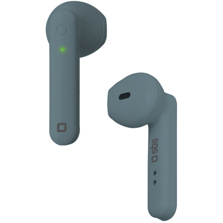 SBS Twin Buds Auricolari Wireless con base di ricarica 300 mAh Bluetooth 5.0 colore Blu