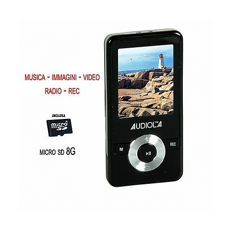 sda-8270/8gb audiola lettore mp3
