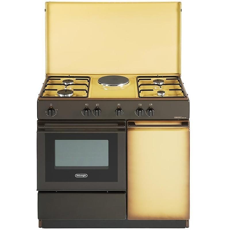 sek 8541 de longhi cucina 86x50 cm 5 fuochi forno elettrico marrone