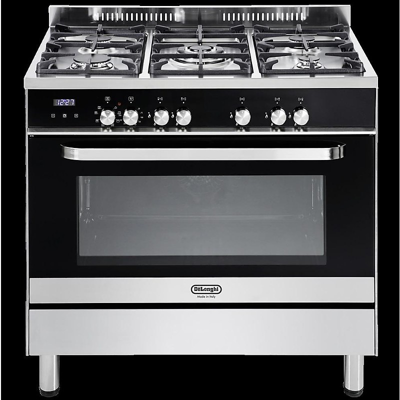 semn 965 de longhi cucina 90x60 cm 5 fuochi forno elettrico nerainox