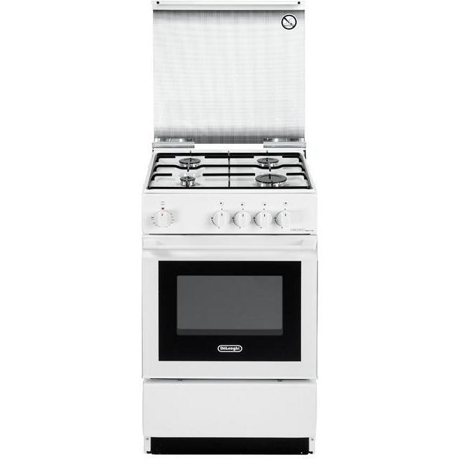 sesw-554n delonghi cucina 50x50 4 fuochi a gas forno elettrico