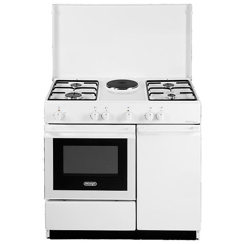 sew 8541 de longhi cucina 86x50 cm 5 fuochi forno elettrico bianca