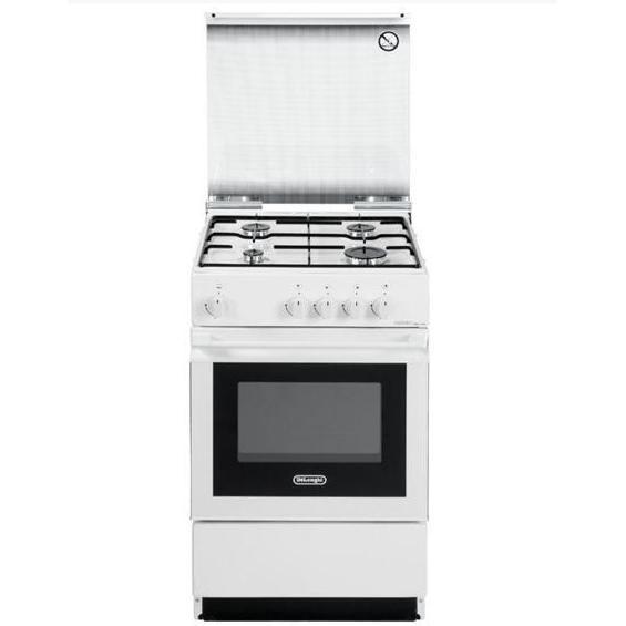 sgw-554gnn delonghi cucina 50x50 4 fuochi a gas forno a gas bianca