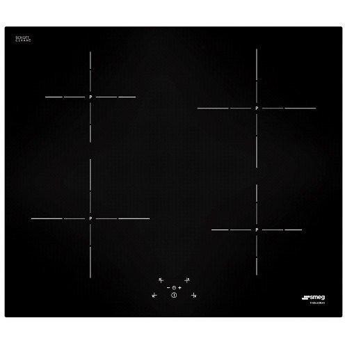 si-5642d smeg piano cottura induzione 60cm 4z nero vano48cm
