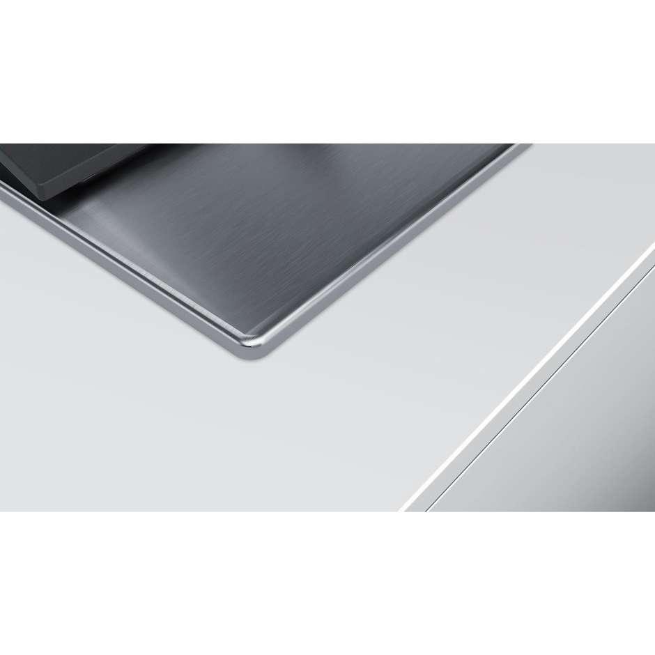 Siemens EC7A5QB80 Piano cottura a gas 75 cm 5 Fuochi colore acciaio Inox