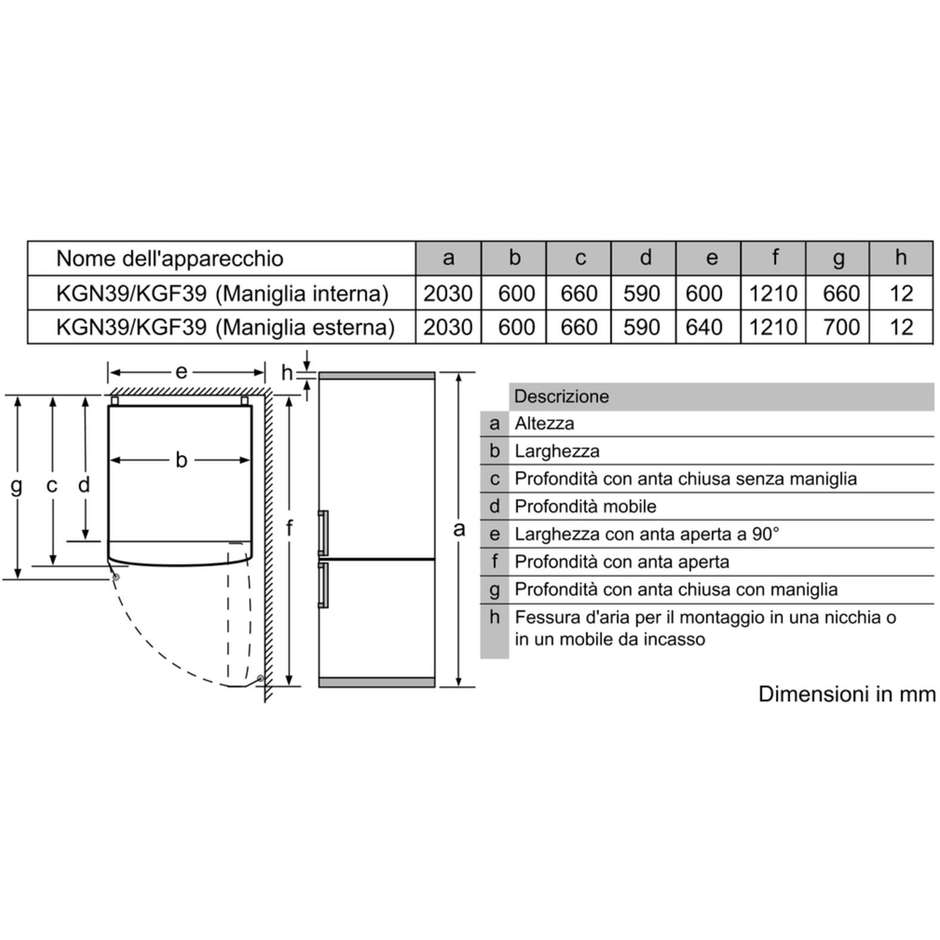 Siemens KG39NXI47 frigorifero combinato 366 litri classe A+++ No Frost colore inox