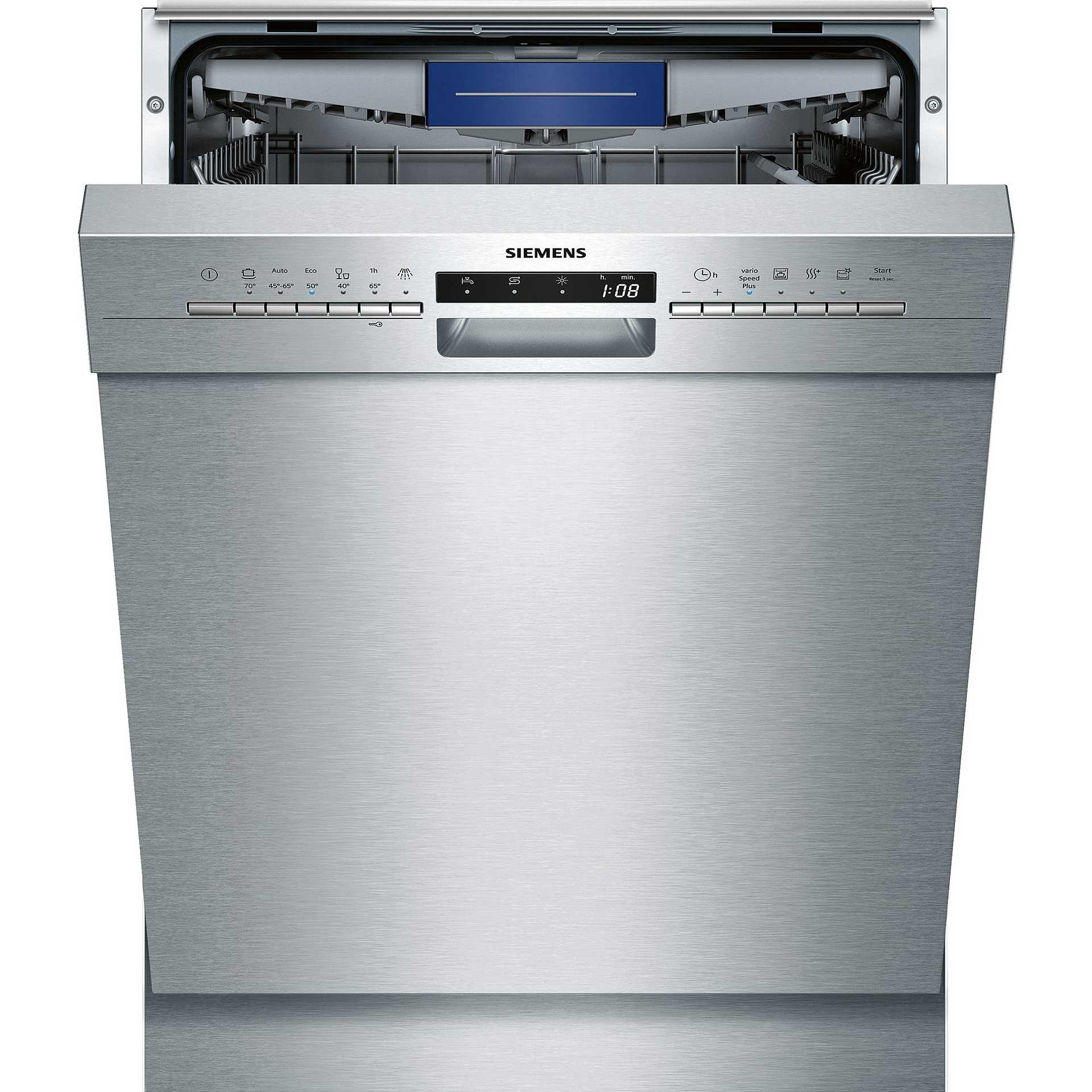 Siemens SN436S01KE iQ300 lavastoviglie da semi incasso 13 coperti 6 ...