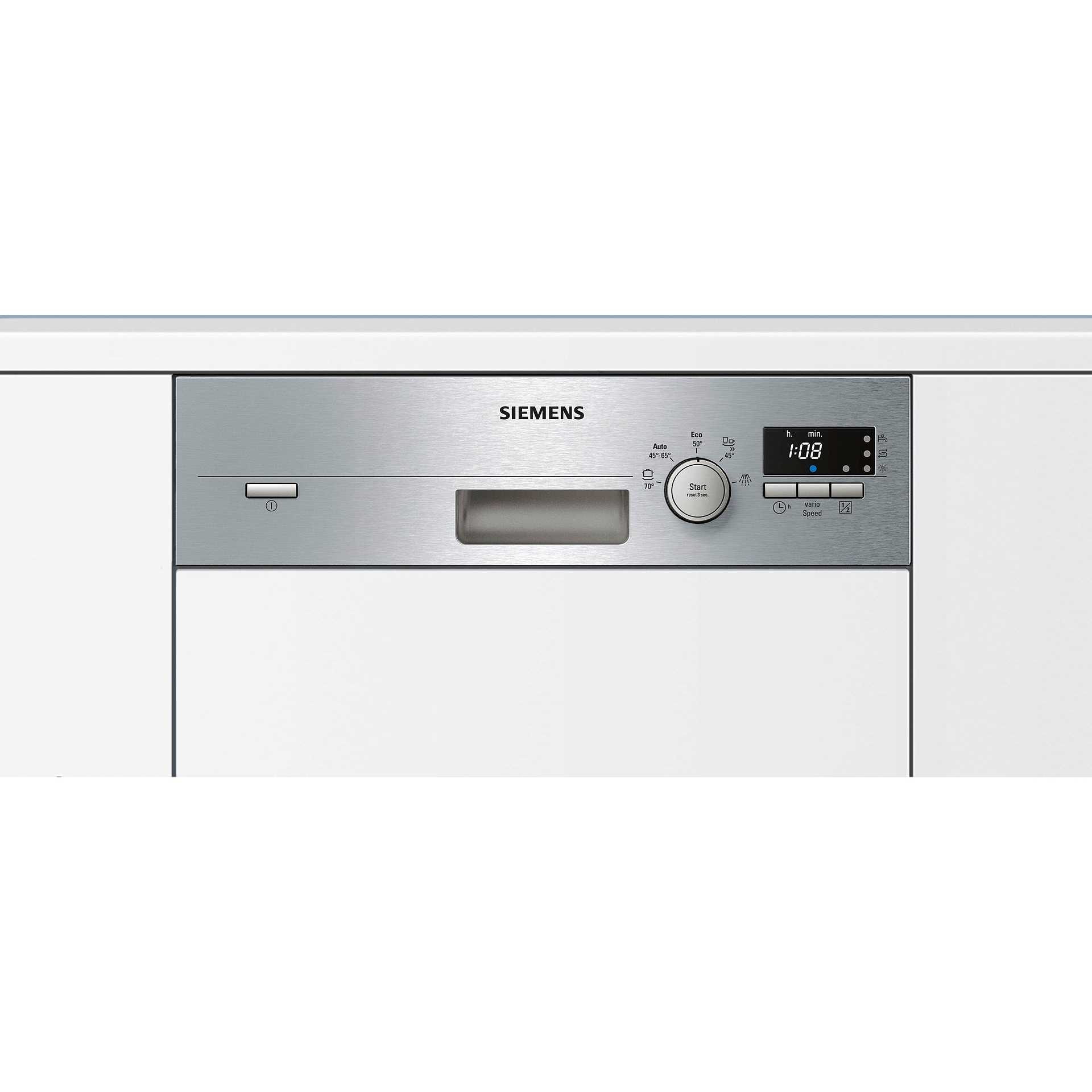 Siemens sr55e506eu lavastoviglie semi incasso 45 cm 9 for Lavastoviglie 9 coperti