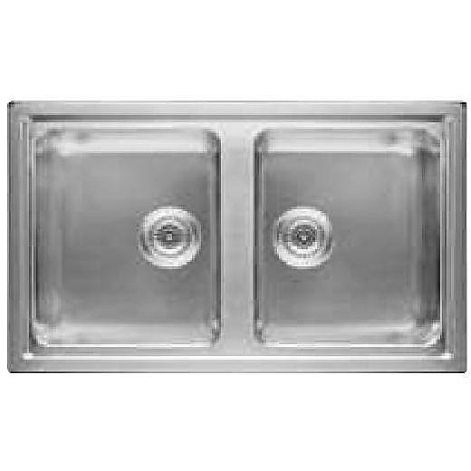 Lavello Cucina 2 Vasche Senza Gocciolatoio.Sk 8630w2 X Ha Hotpoint Ariston Lavello 86x51 2 Vasche Senza