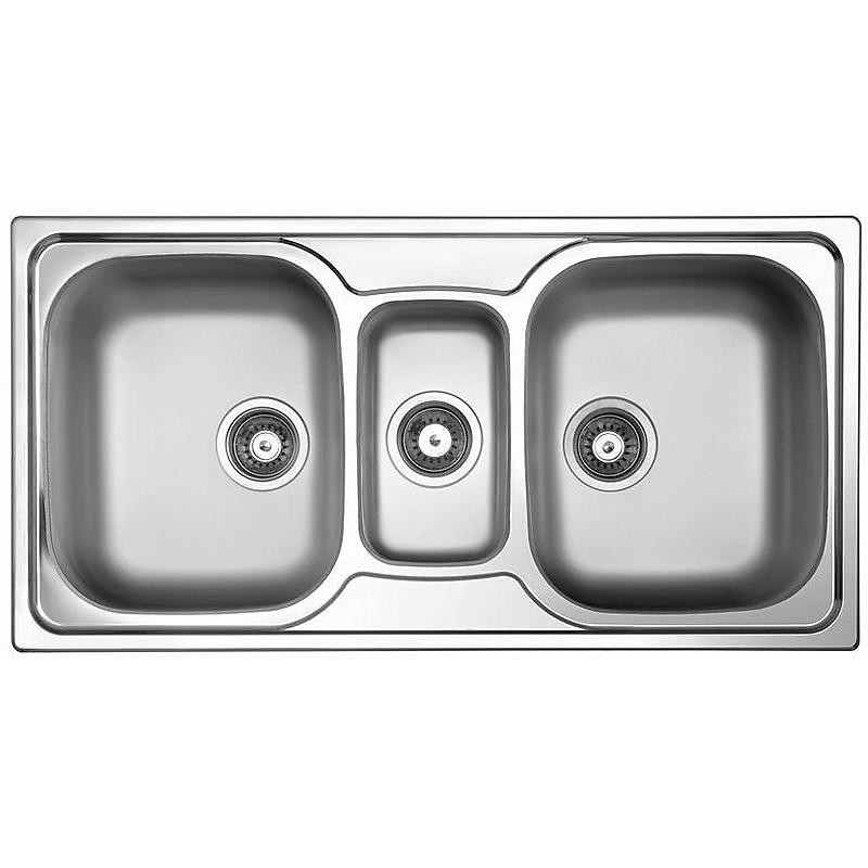 sky-550 satinato lavello 2 vasche