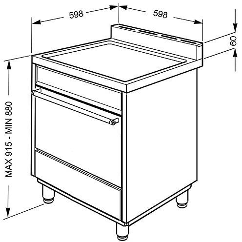 Smeg b6gvxi9 cucina 60x60 4 fuochi a gas forno a gas ventilato 70 litri classe a inox cucine - Cucina a gas smeg ...
