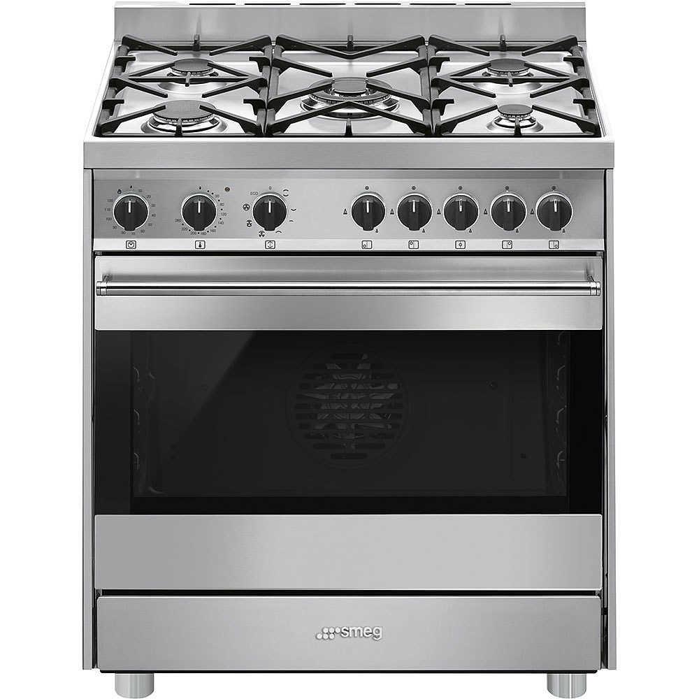 Smeg b8gmxi9 cucina 80x60 5 fuochi a gas forno elettrico termoventilato 100 litri classe b - Cucina a gas smeg ...
