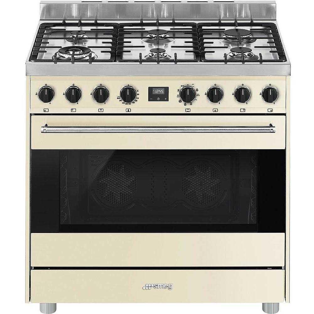 Smeg B9gmpi9 Cucina 90x60 6 Fuochi A Gas Forno Elettrico