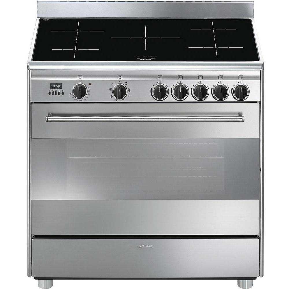 Smeg BG91IX9 cucina 90x60 5 zone cottura induzione forno elettrico ...