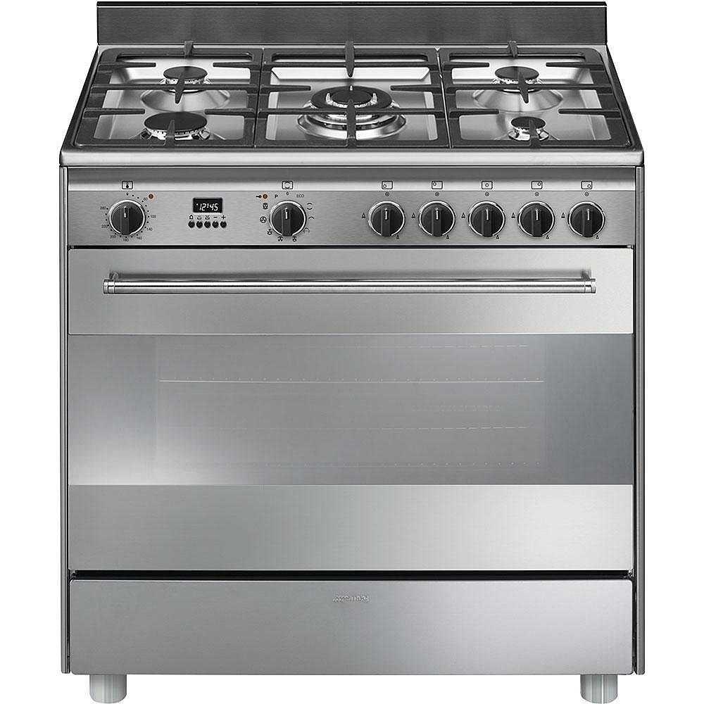 Smeg BG91PX9 cucina 90x60 5 fuochi a gas forno ...