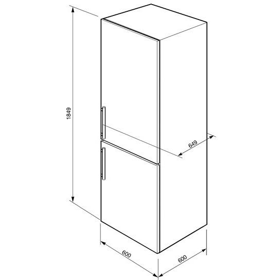 Smeg CF33SP frigorifero combinato 295 litri classe A+ ventilato colore argento