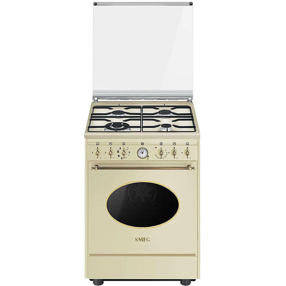 Smeg CO68GMP9 cucina 60x60 4 fuochi a gas forno elettrico 70 litri ...