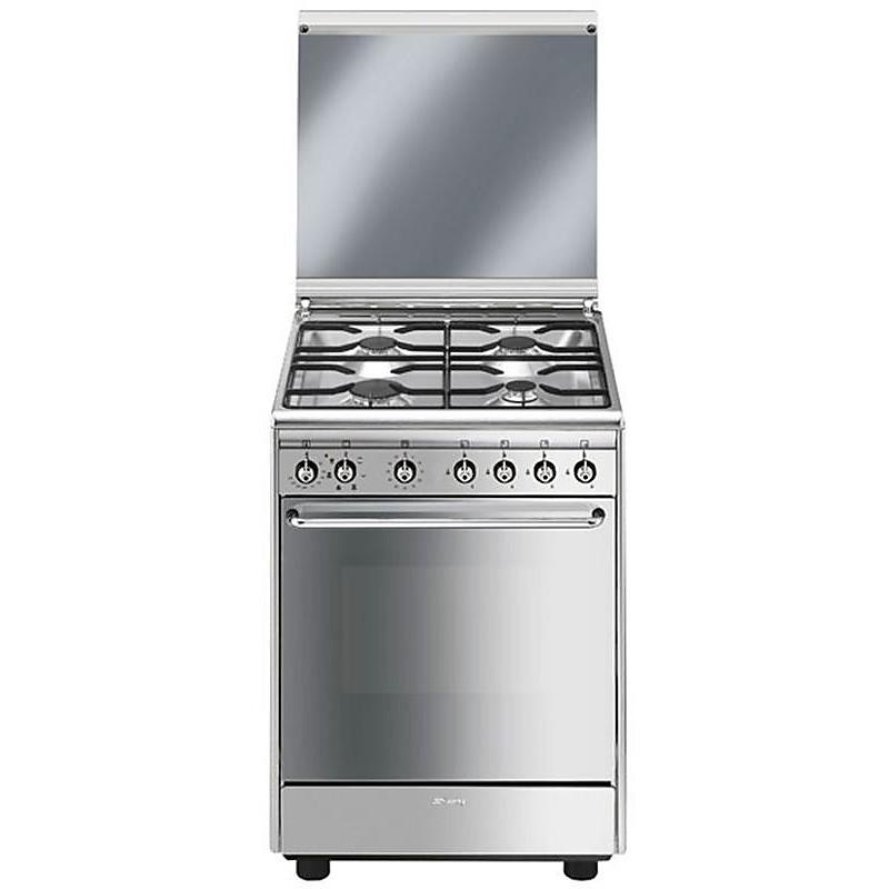 Smeg CX60SV9 cucina 60x60 4 fuochi a gas forno elettrico ventilato ...