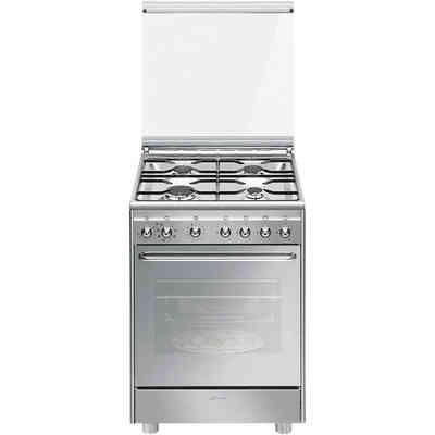 Smeg CX91M2 cucina 90x60 5 fuochi a gas forno elettrico ...