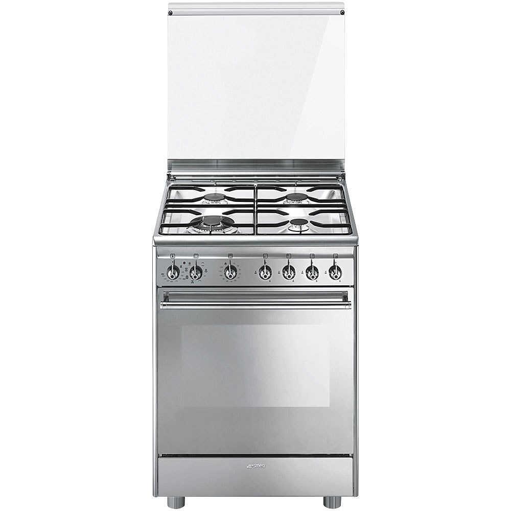 Smeg CX68M8-1 cucina 60x60 4 fuochi a gas forno elettrico 70 litri ...