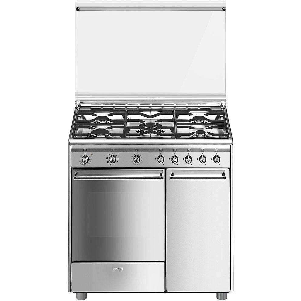 Smeg cx91m2 cucina 90x60 5 fuochi a gas forno elettrico for Forno a gas