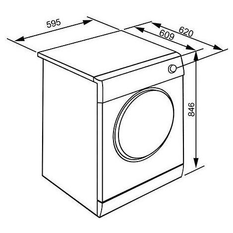 Smeg DHT37PLIT asciugatrice a pompa di calore 7 Kg classe A+++ inverter colore bianco
