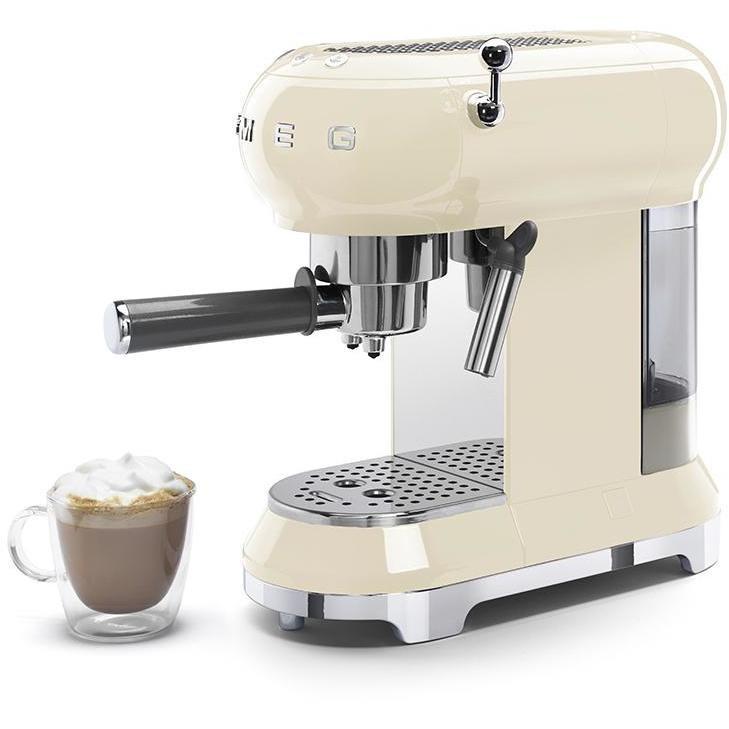 Smeg ECF01CREU Macchina da caffè espresso Capacità 1 litro 15 Bar 1350 W Colore Panna