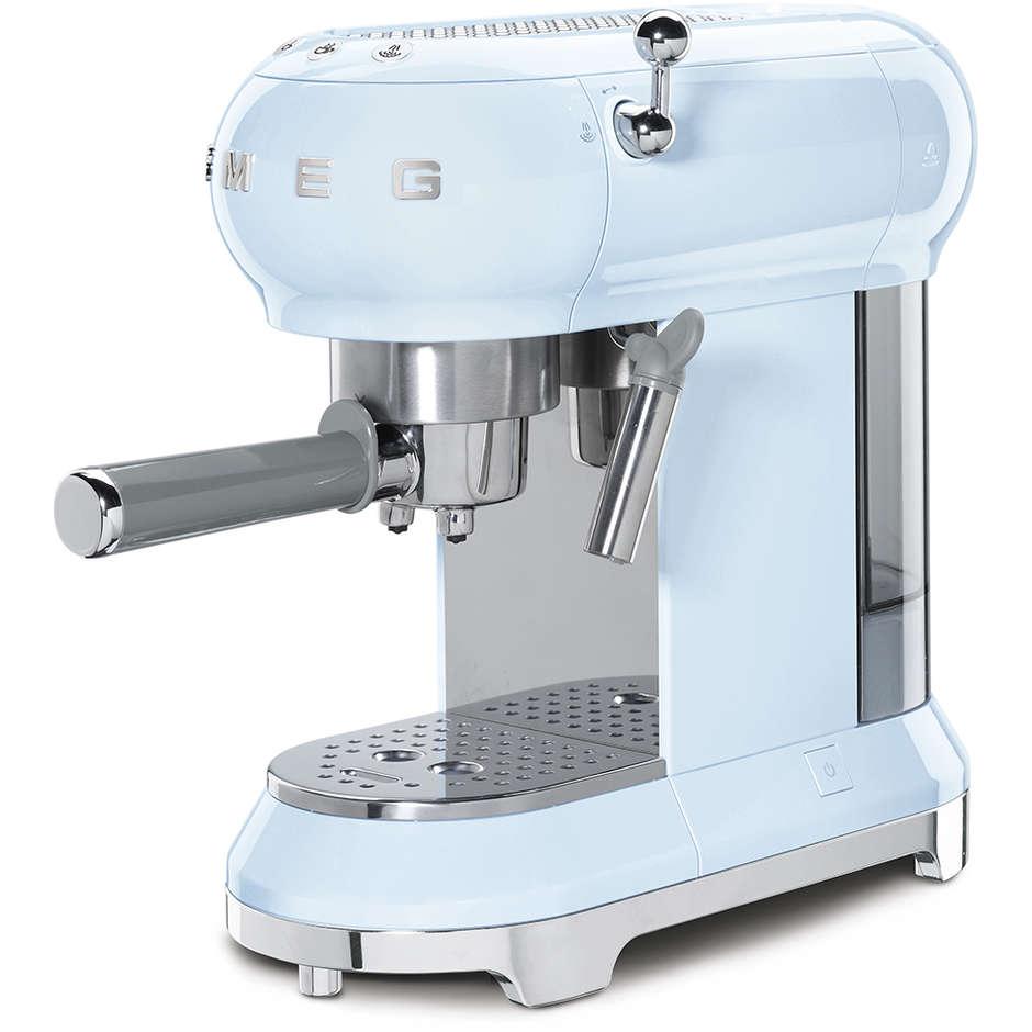Smeg ECF01PBEU Macchina da caffè espresso Capacità 1 litro 15 Bar 1350 W Colore Azzurro