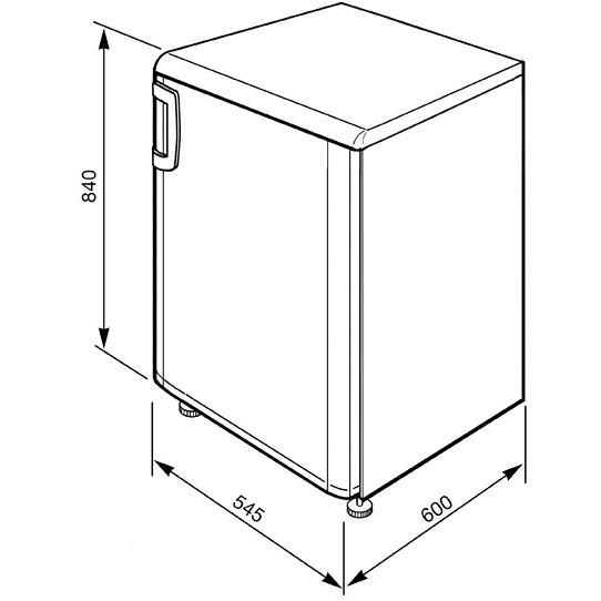 Smeg FA120APS frigorifero monoporta 114 litri classe A+ Statico argento