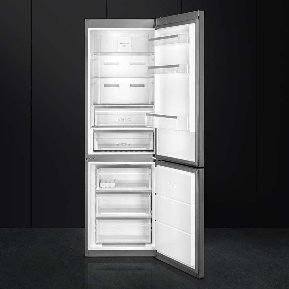 Smeg FC182PXNE frigorifero combinato 346 litri classe A++ No Frost colore inox