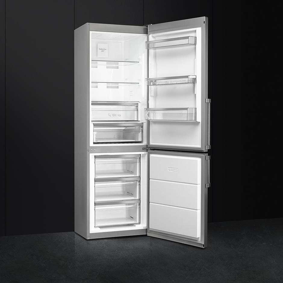 Smeg FC3732PXNFE frigorifero combinato 324 litri classe A++ Total No Frost colore inox